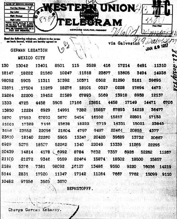 Zimmermann Telegram The Zimmermann ...