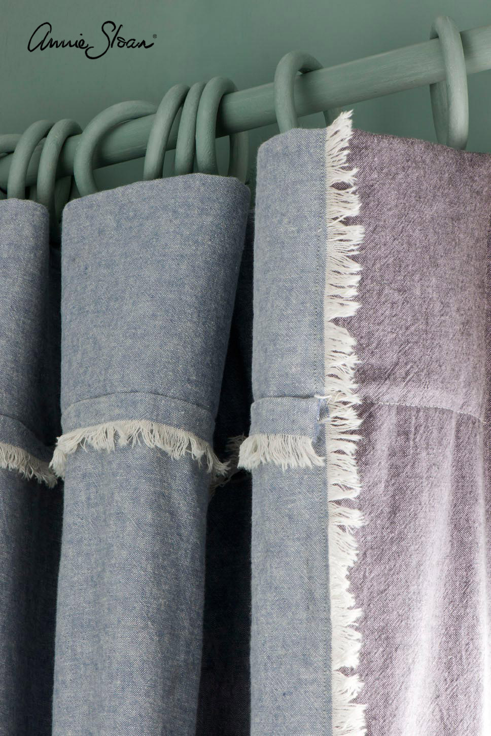 Annie Sloan Coloured Linen Curtains