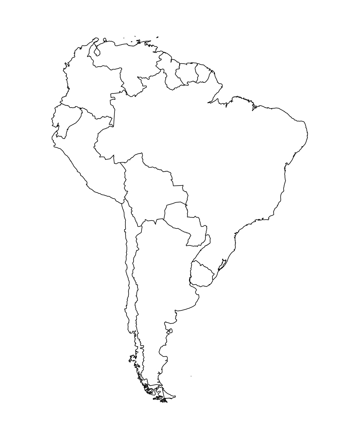 South America Map ThingLink - South america map