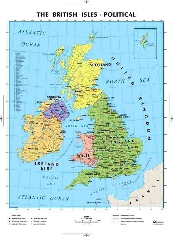 Britannia - Mappa dell inghilterra per i bambini ...