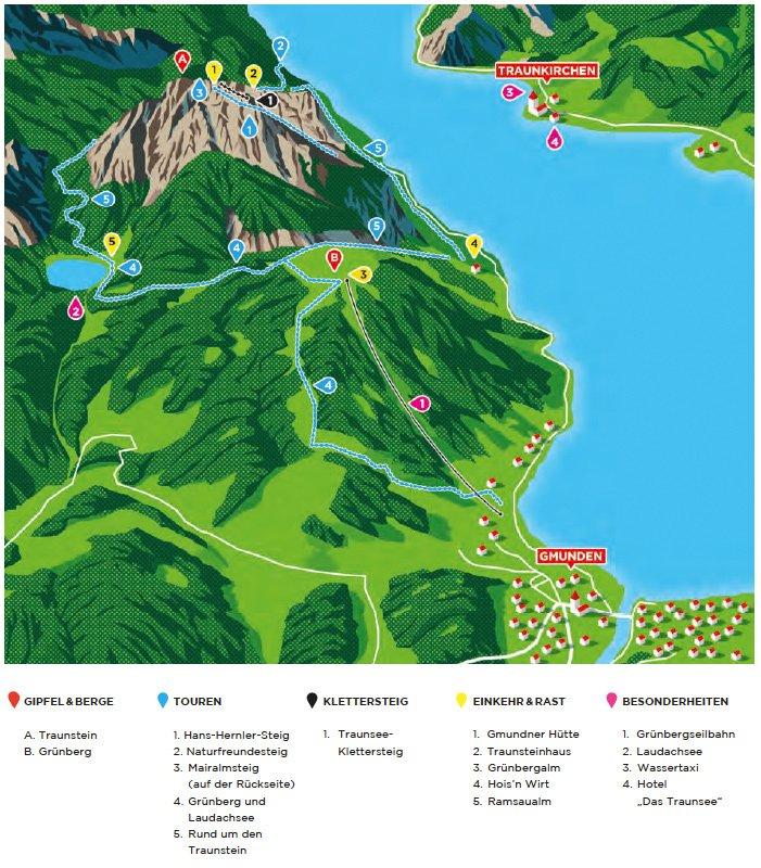 Berge Um Freiburg Karte.Traunstein Die Schonsten Wanderungen Hutten Bergwelten