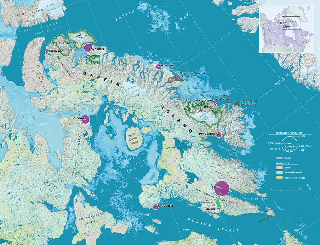 Interactive map shines light on baffin island 39 s nine for Public fishing areas near me
