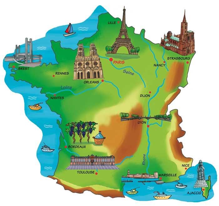 Cartina Francia Con Citta.Remix Of La Mappa Della Francia Sb