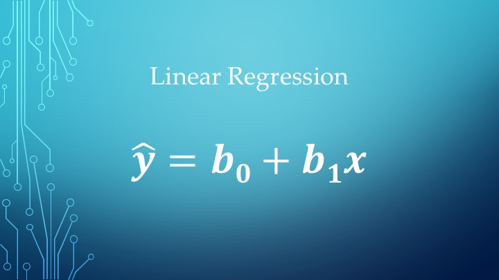 Linear Regression , y hatFC , x is the independent variab...