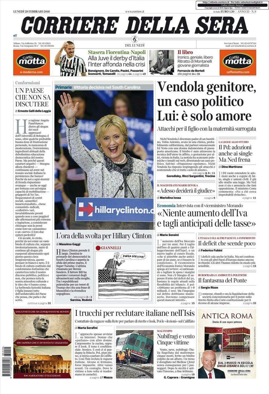 prima pagina corriere della sera On prima pagina corriere della sera