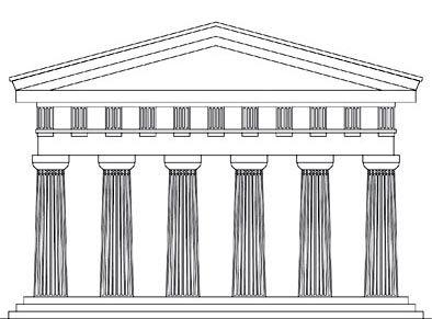 Il triglifo un elemento architettonico del fregio dell for Disegni del portico laterale