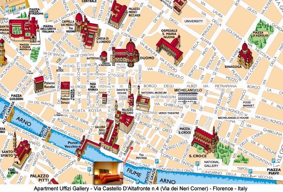 Cartina Firenze Con Monumenti Pieterduisenberg