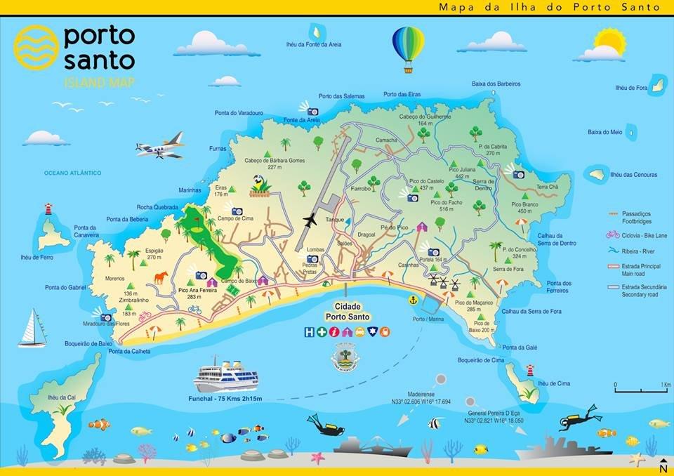 mapa do porto Mapa de Porto Santo mapa do porto