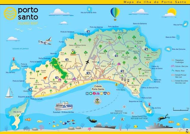 mapa da ilha do porto santo Mapa de Porto Santo mapa da ilha do porto santo