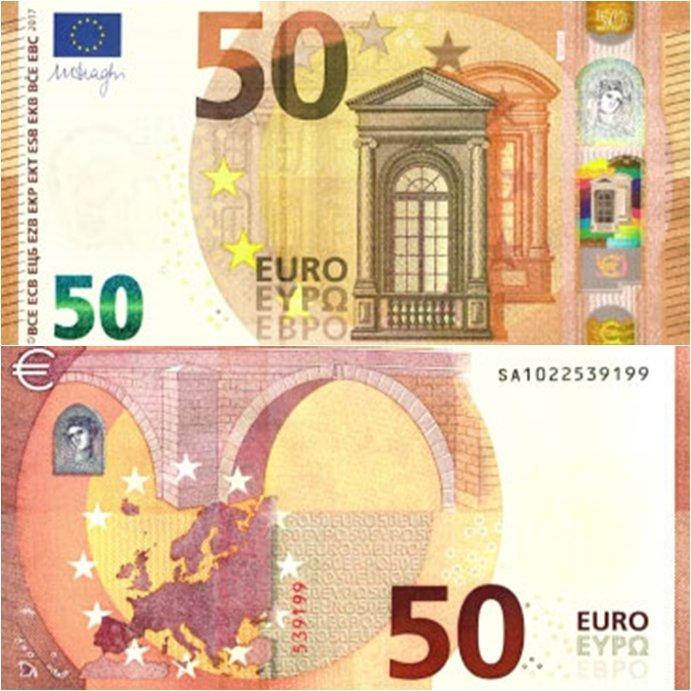 Foto de un billete de 50 euros 2