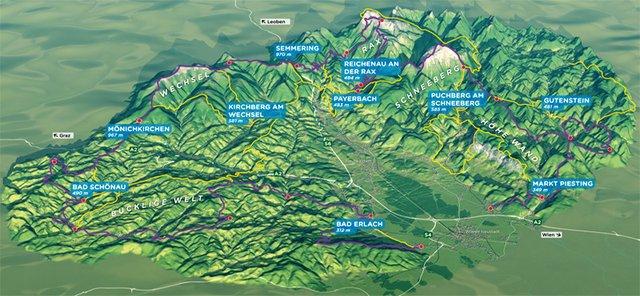 Karte Wien Niederosterreich.Wanderwege