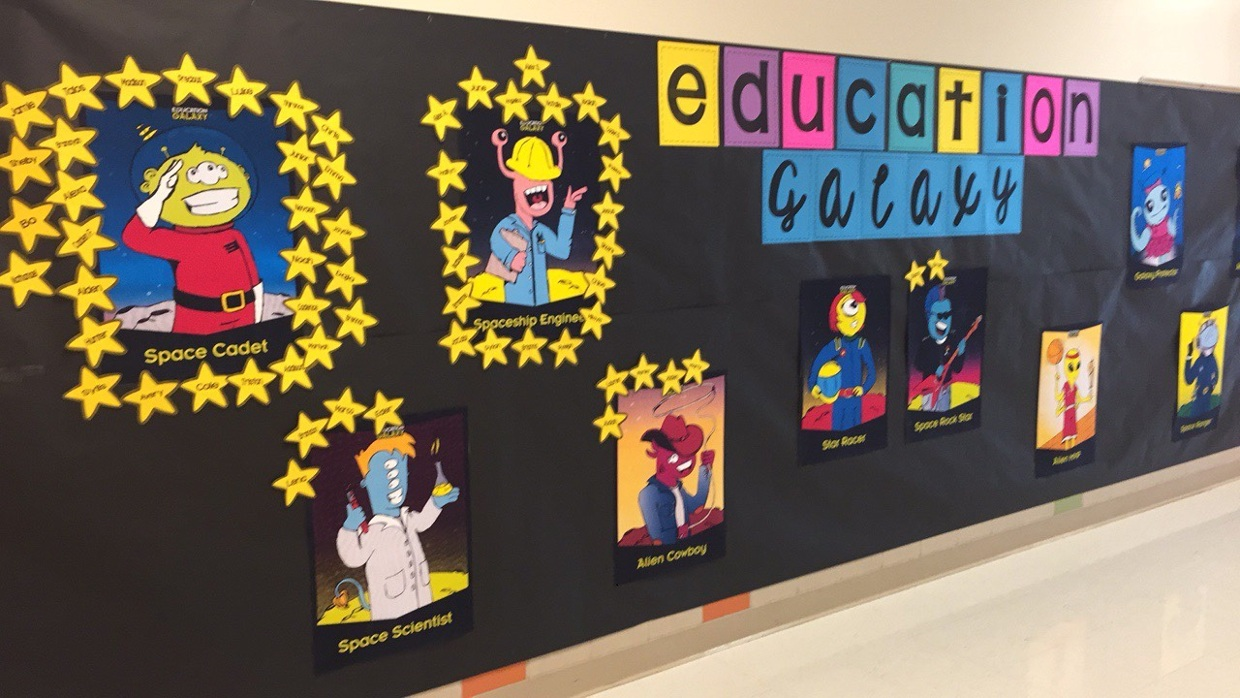 Education Galaxy Motivational Bulletin Board