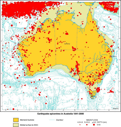 earthquakes in australia Usgs earthquake hazards program, responsible for monitoring, reporting, and  researching  m 30 - 49km wnw of echuca, australia.