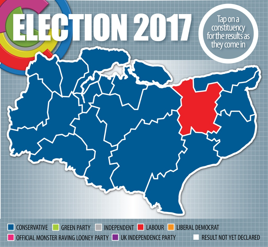 Map Of Uk General Election Results.Kent General Election Results