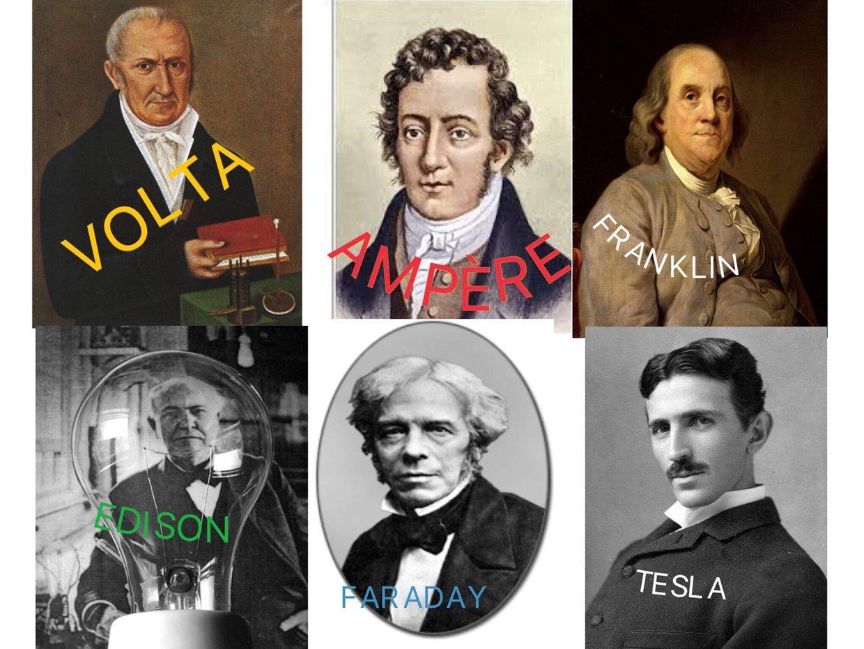 Resultado de imagen de inventores de la electricidad