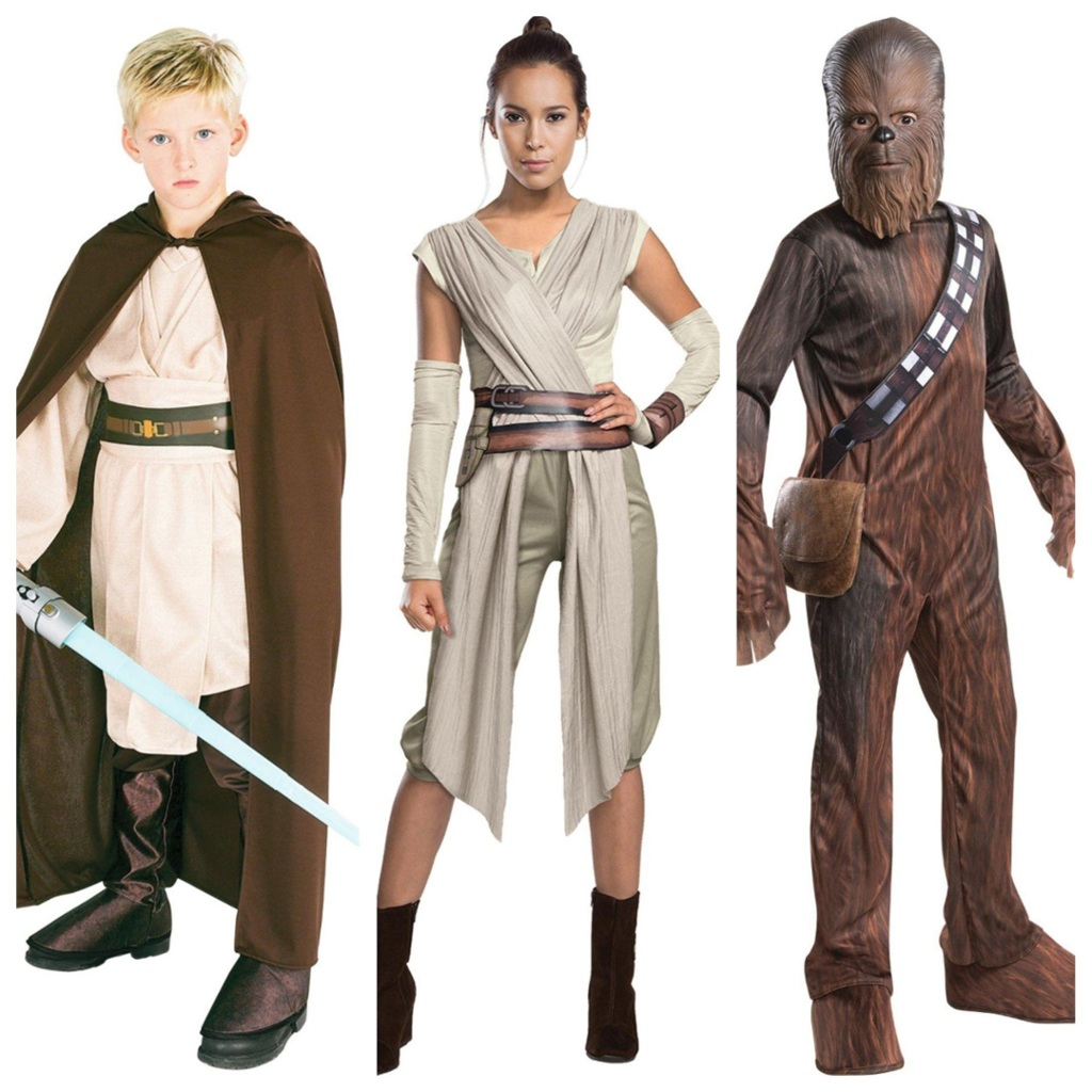 Star Wars heroes costumes