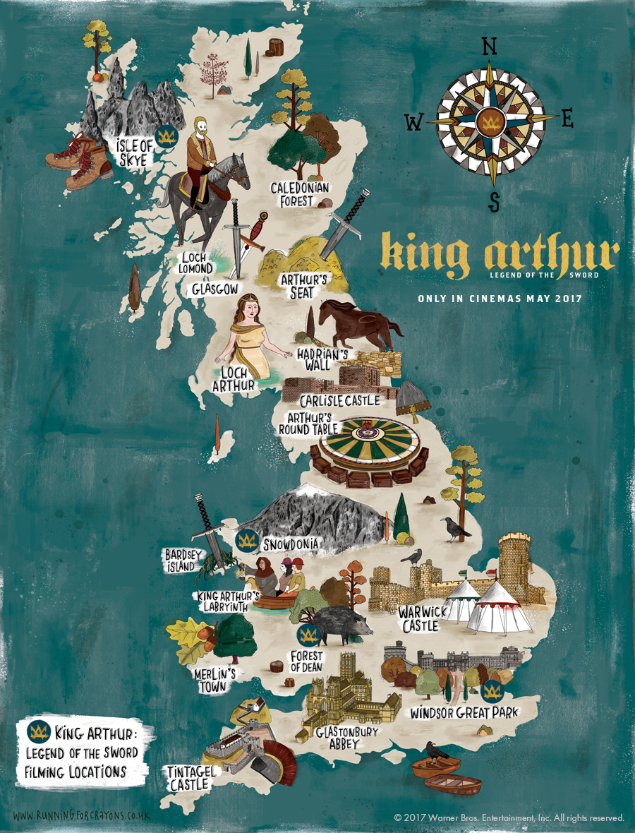 Map Of England Castles.King Arthur Map Of Britain Visitbritain