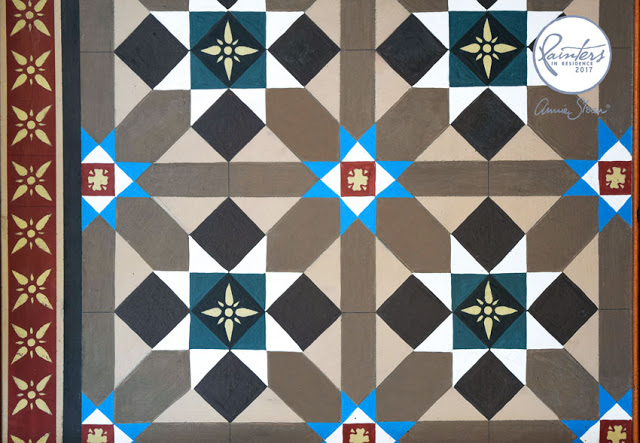 Painted tile pattern by Jonathon Marc Mendes