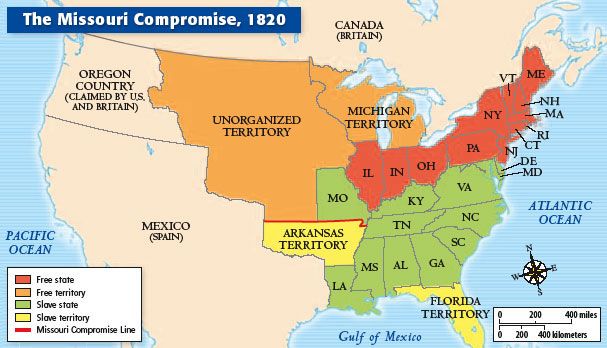 Conkling Missouri Compromise ThingLink - 1819 map of us free and slave states
