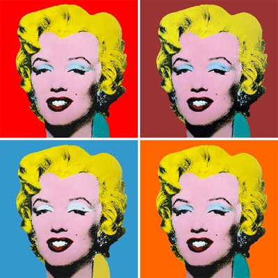 andy warhol painting of marilyn monroe thinglink. Black Bedroom Furniture Sets. Home Design Ideas