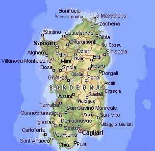 Cartina Dettagliata Sardegna.Corsica Cartina Geografica
