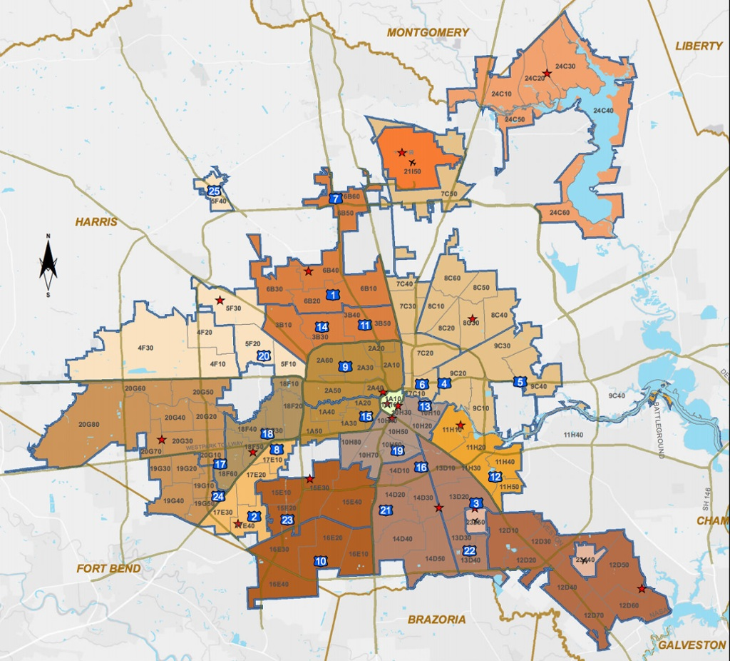 Where Are Houstons Crime Hot Spots - Houston map crime rate