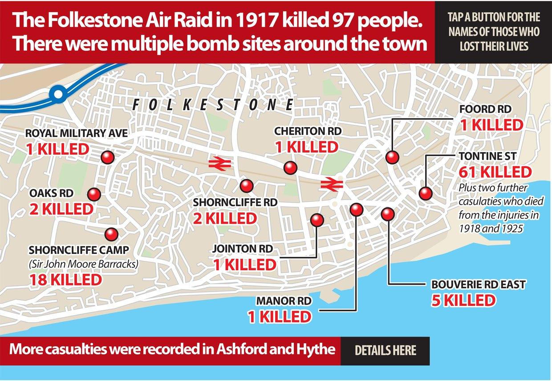 FOLKESTONE AIR RAID MAY 1917