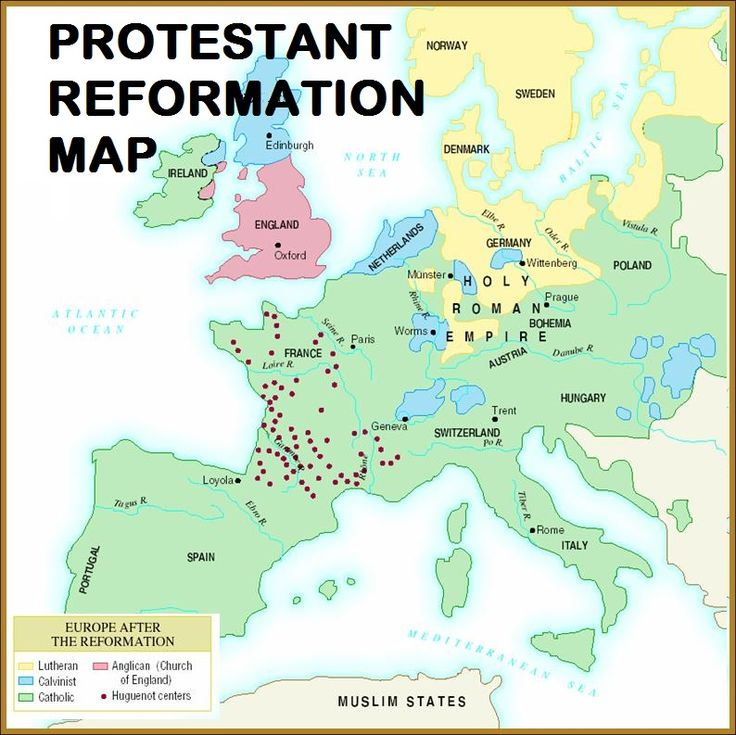 Map of Protestant Reformation by Andrew ThingLink – Protestant Reformation Worksheet