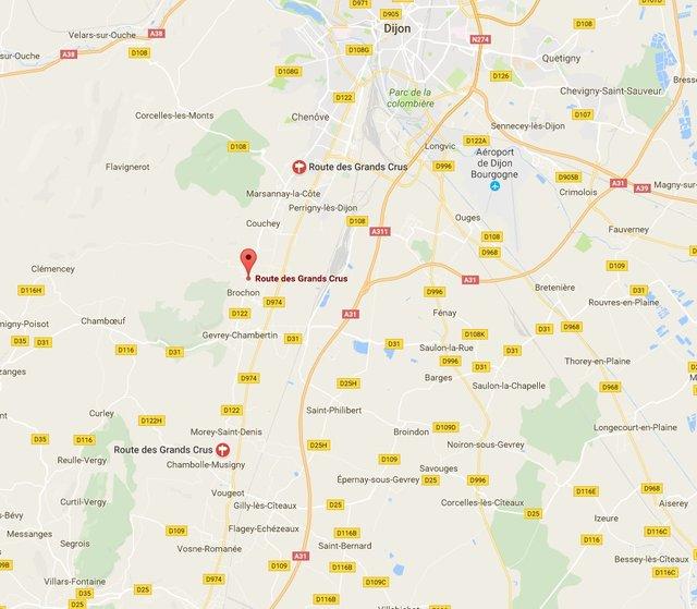 Carte Route Des Vins Bourgogne.La Route Des Grands Crus De Bourgogne Cote D Or Tourisme