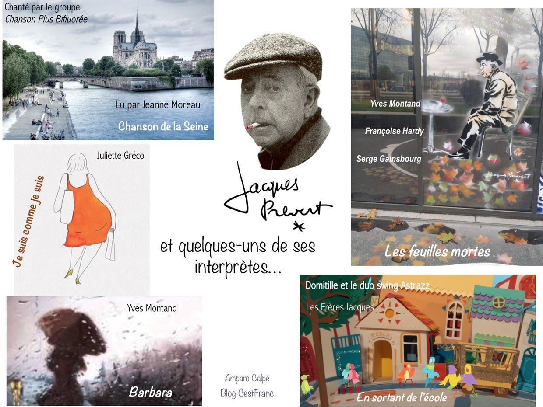 Jacques Prévert et quelques-uns de ses interprètes