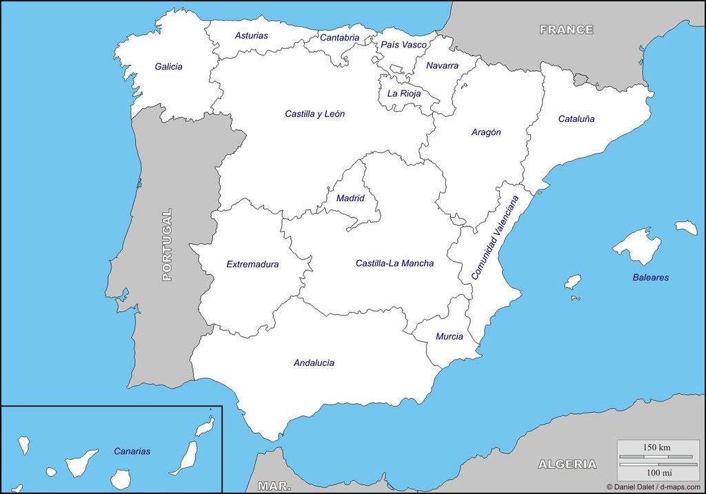 El mapa del fútbol español en Primera y Segunda