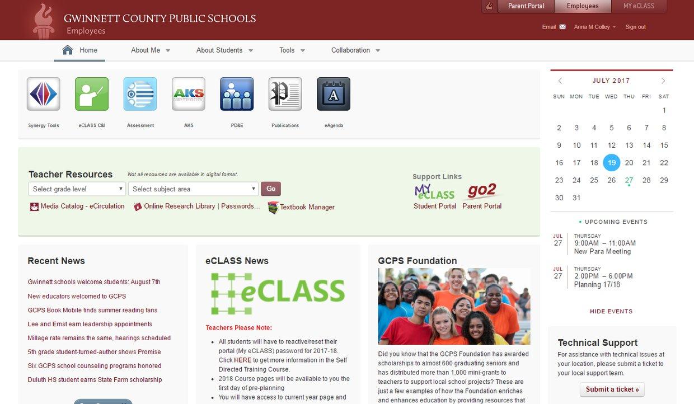 Gwinnett County Public Schools Employee Portal