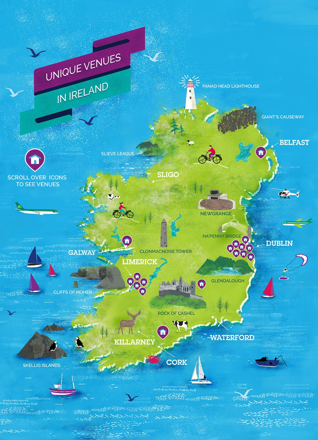 Map of Unique Venues in Ireland