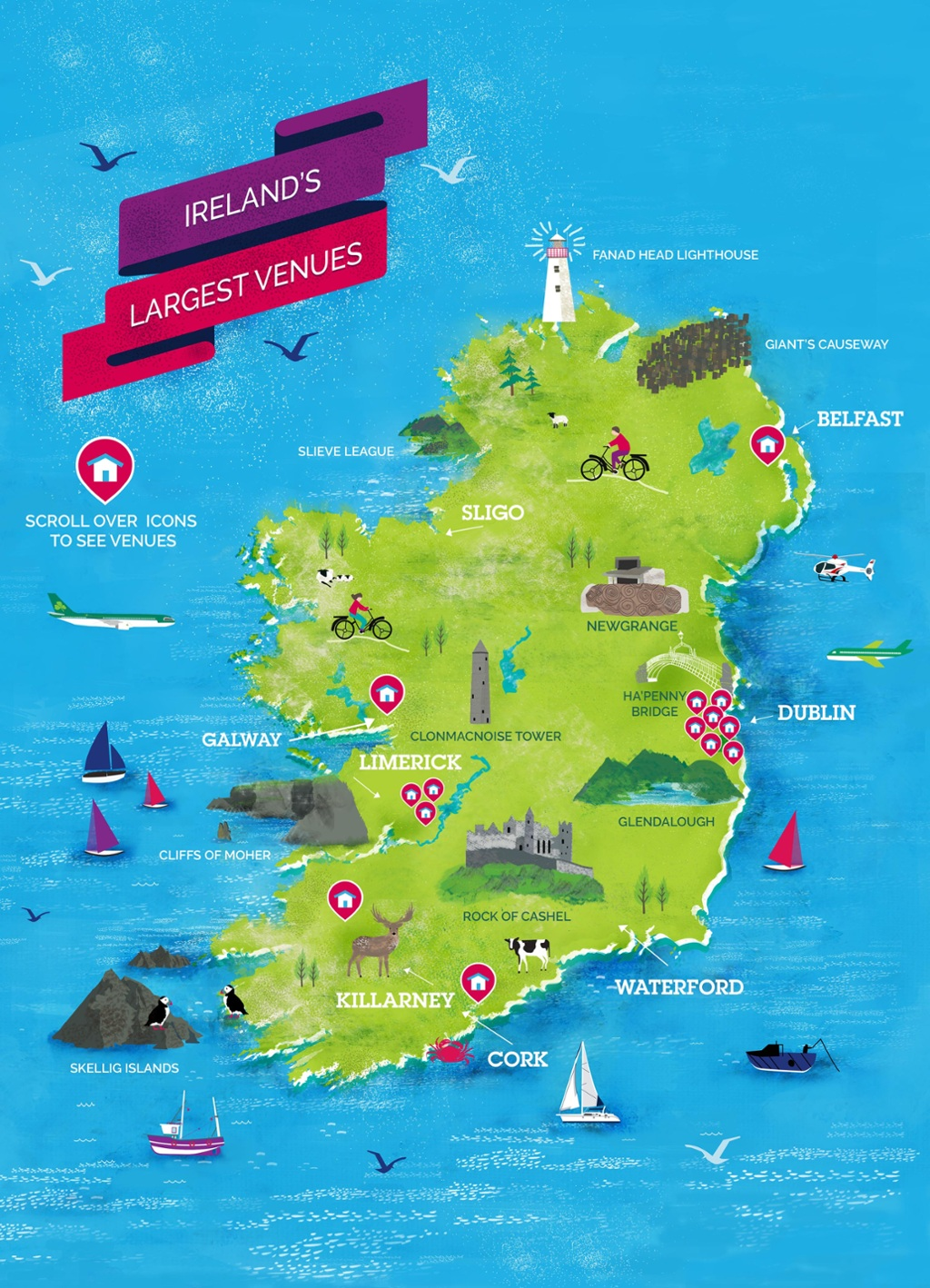Ireland's Largest Venues Map