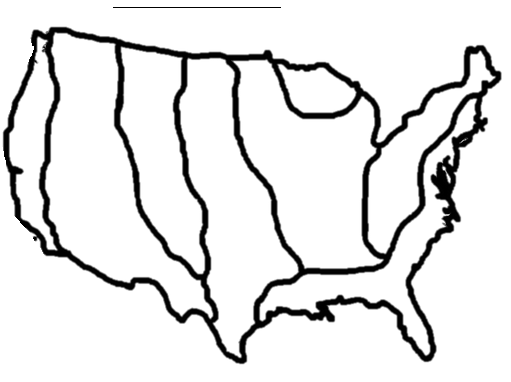 Eight Geographic Regions of North America