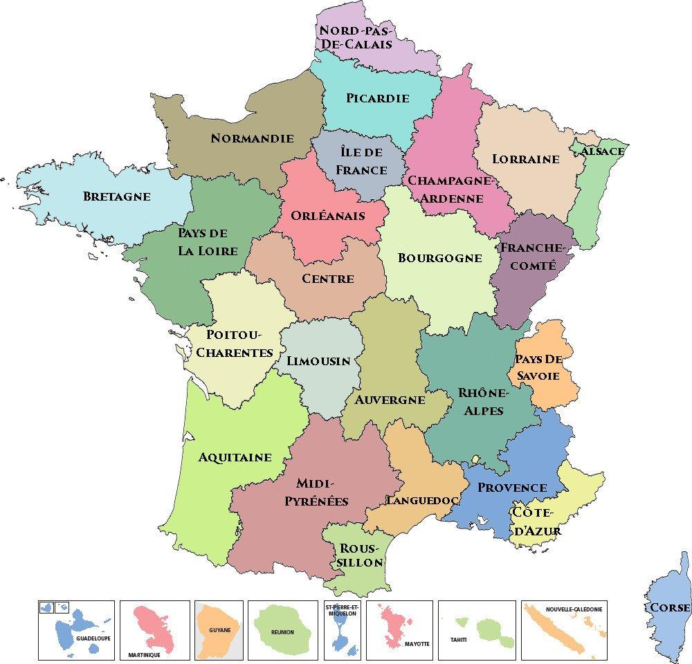 Carte Des Regions De France Imprimer | My blog