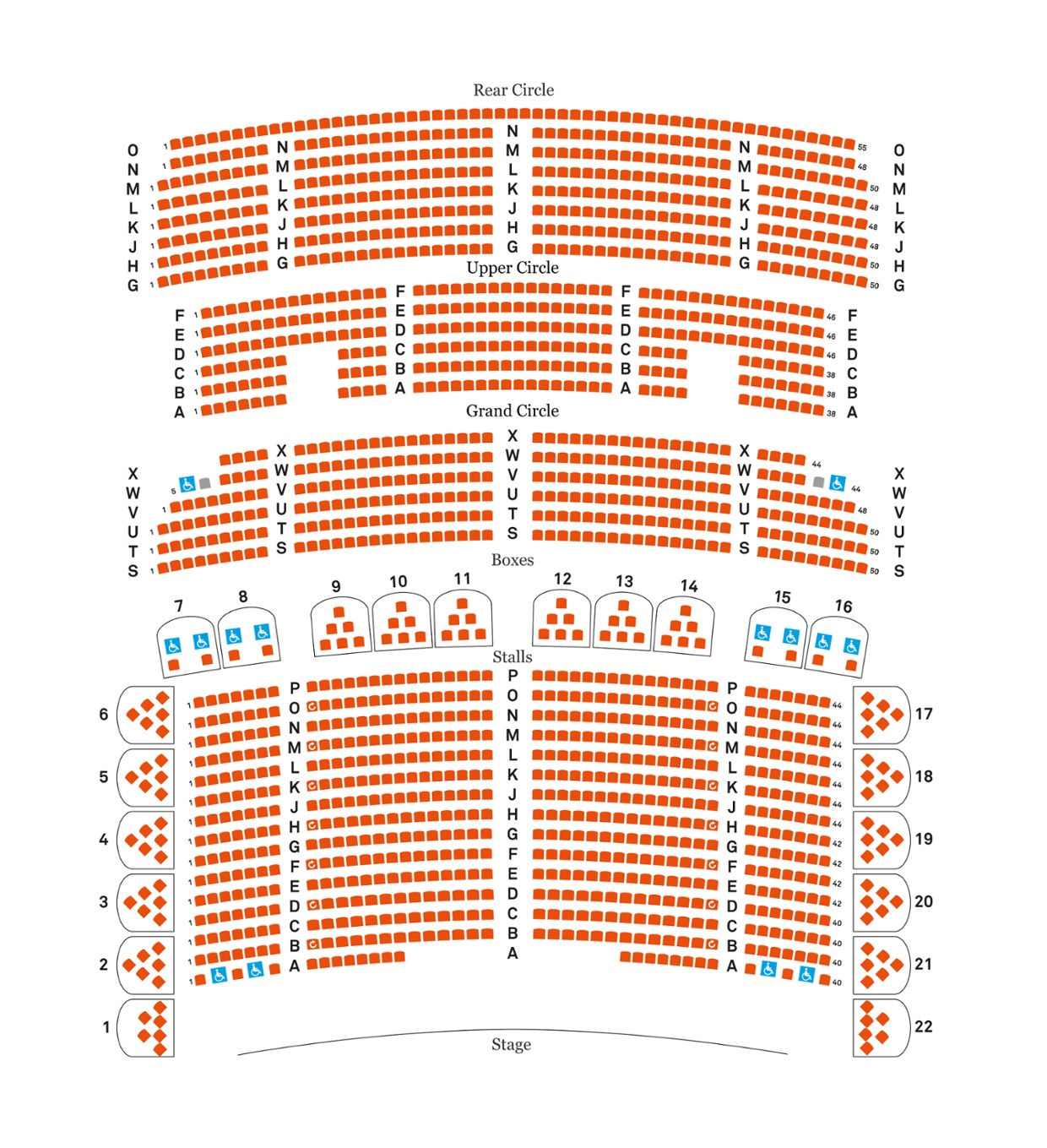 Liverpool Philharmonic Hall seating plan