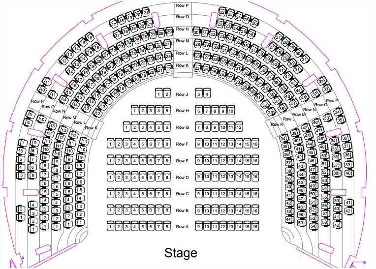 St George's Hall Concert Room seating plan
