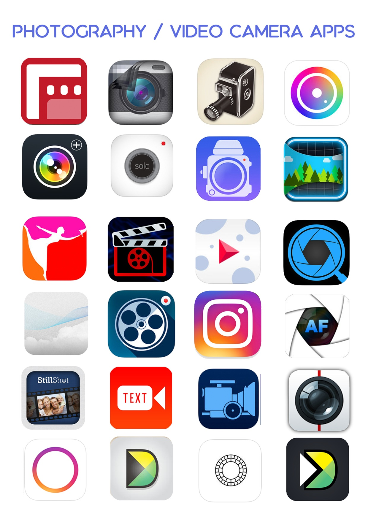 Ultimate iOS App List - Photo Video