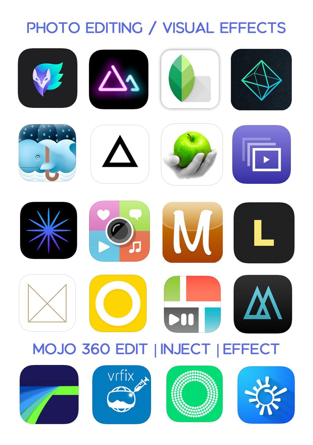 Ultimate iOS App List - Photo editing/FX / 360