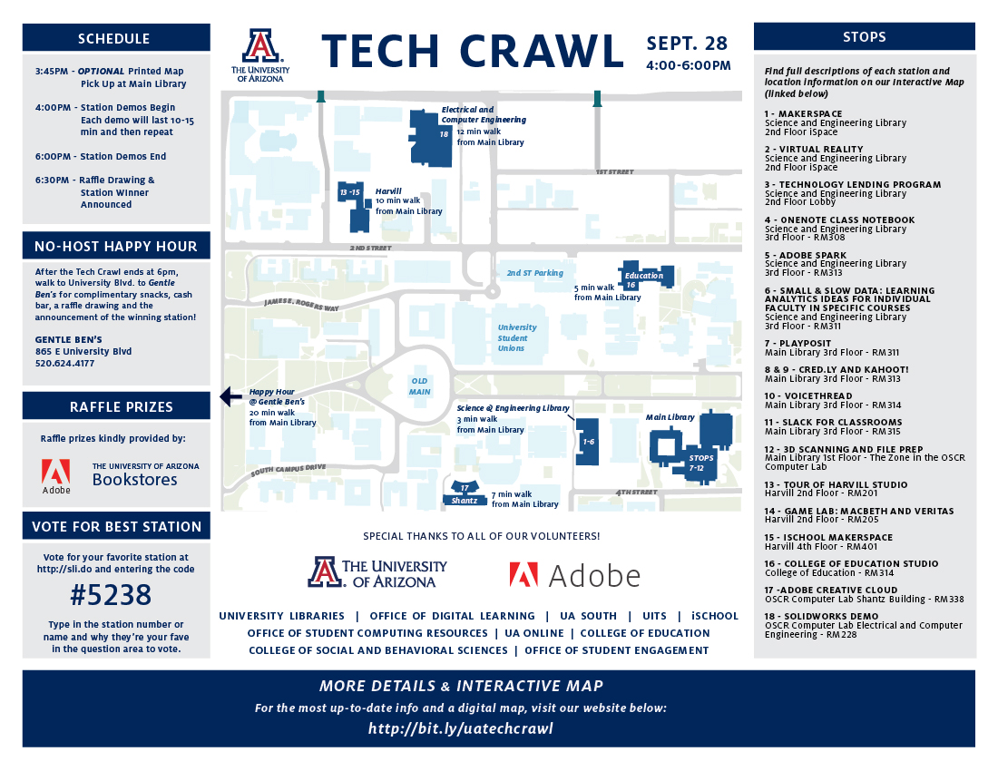 UA Tech Crawl (Thu Sep 28, 2017 from 4-6pm)