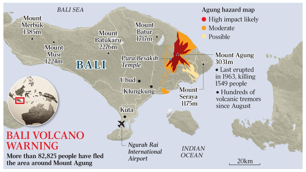 Bali volcano quake sets mount agung for first eruption in 54 years gumiabroncs Choice Image