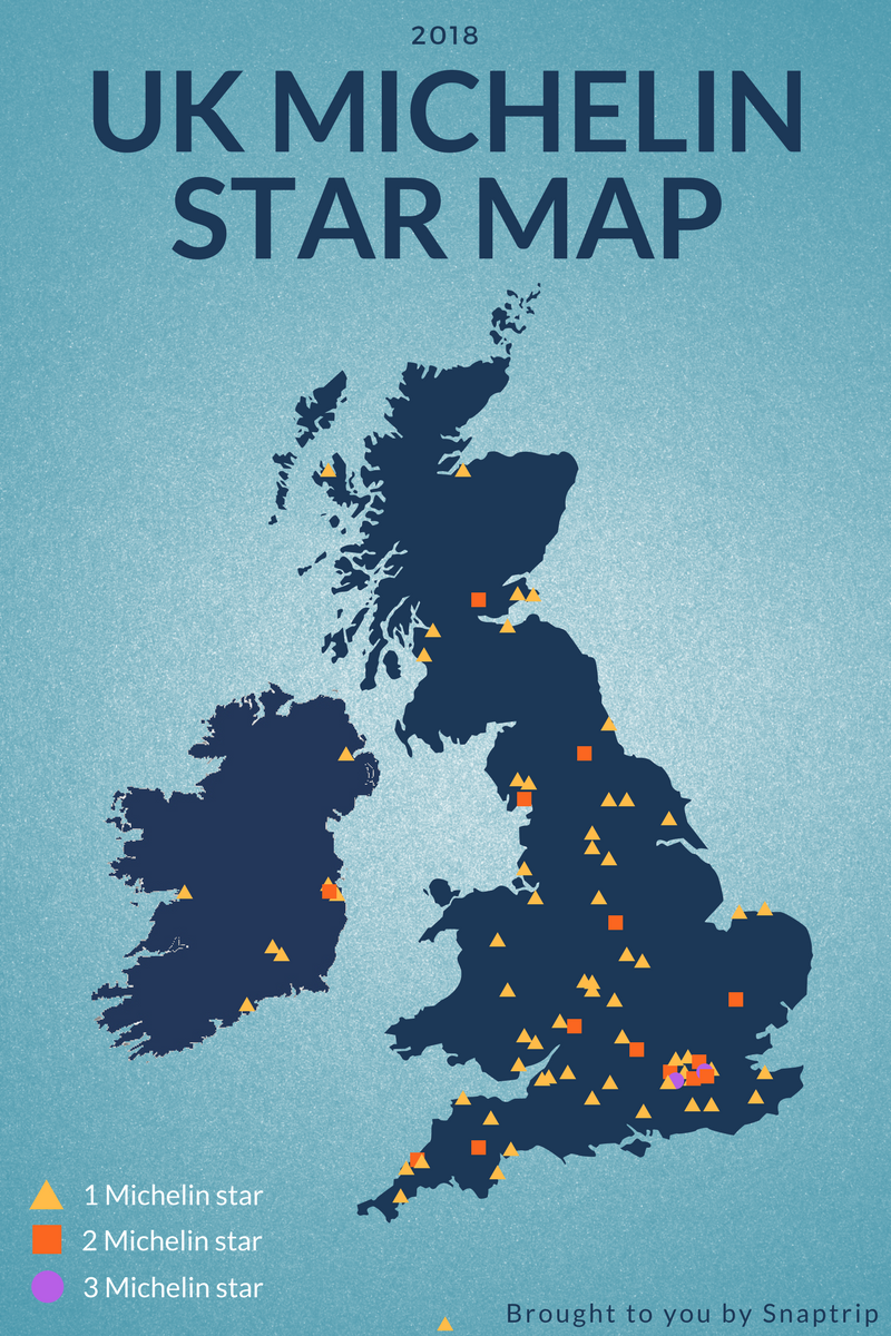 Michelin starred restaurants in the UK – interactive map
