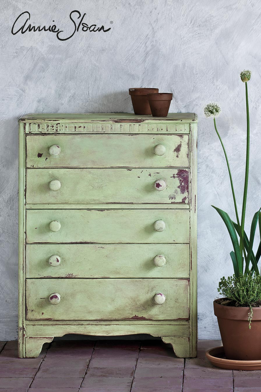 Chest of drawers painted in Lem Lem