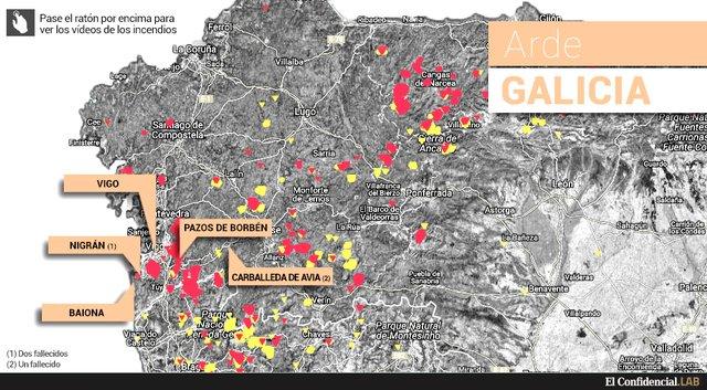 Resultado de imagen de Ni las teles públicas ni las privadas: el fuego de Galicia solo interesó a laSexta