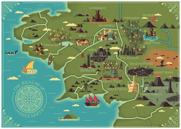Middle Earth Interactive Map