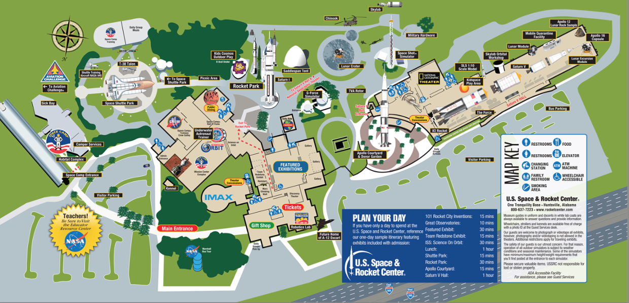 Interactive Map Of The US Space Rocket Center ThingLink - Interactive space map