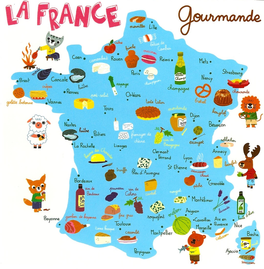 Carte La France Gourmande