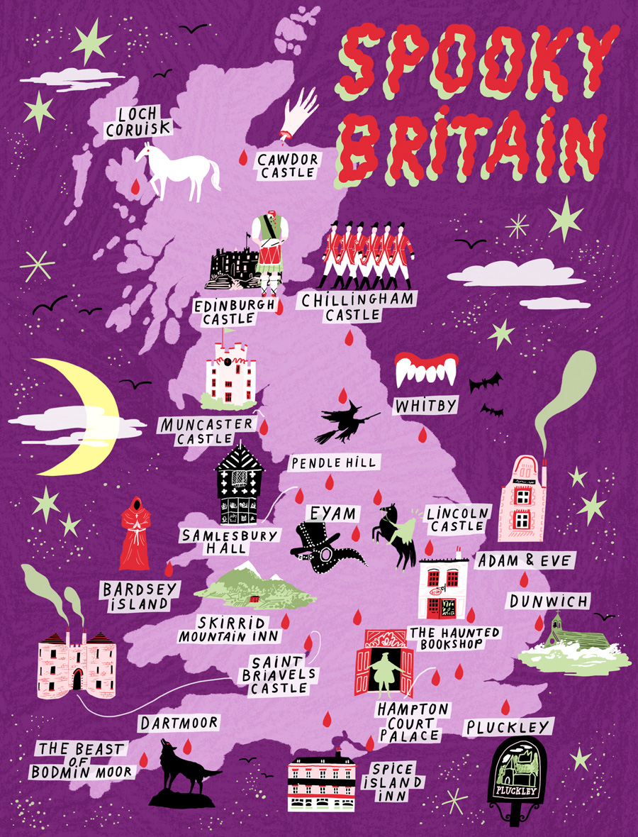 Map Of England With Towns And Cities.Haunted Britain Visitbritain
