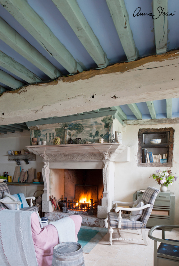 Rustic French sitting room